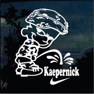 Military Decals - Calvin Pee on Colin Kaepernick