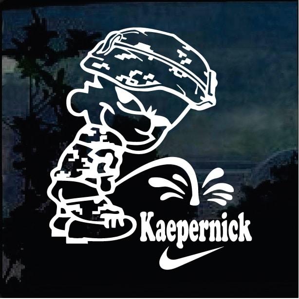 Calvin Pee on Colin Kaepernick Military Window Decal Stickers