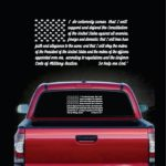 Military Decals - Oath of Enlistment Flag Sticker