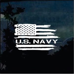 Military Decals - US Navy Weathered American flag Sticker