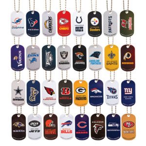 NFL Football Team Dog Tags