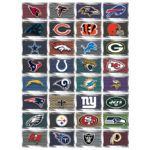 NFL Football  Football Team License Plate Shaped Stickers
