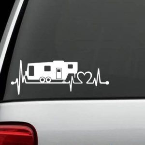 Truck Decals - Camper Heartbeat Love Sticker