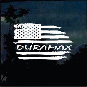 Truck Decals - Duramax Weathered Flag Sticker