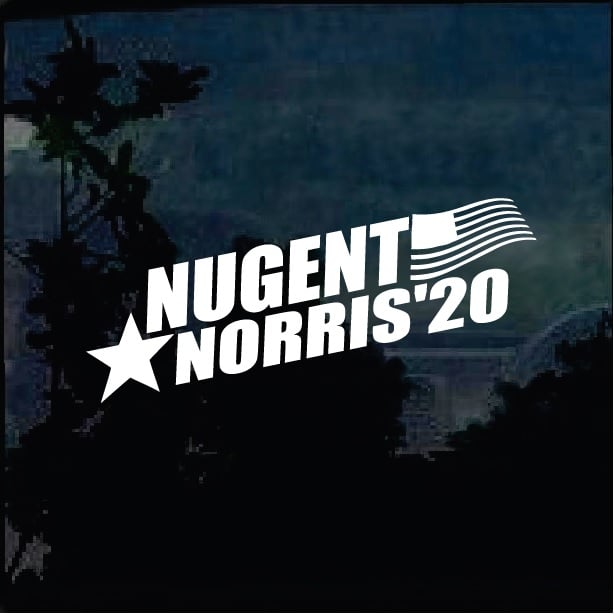 Ted Nugent Tour Dates 2020 Ted Nugent Chuck Norris 2020 Window Decal Sticker – Custom Sticker