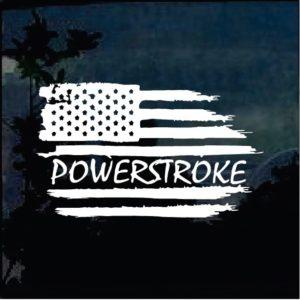 Truck Decals - Powerstroke Weathered Flag Sticker