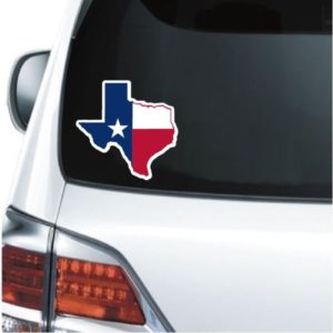 Truck Decals - Texas State Map Flag