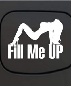 Truck Stickers - Fill Me Up Sexy Mudflap Girl Fuel Door Decal