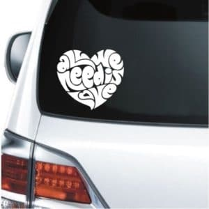car decals - All we need is love decal