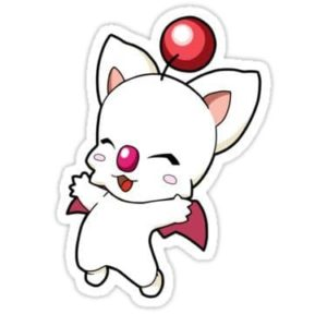 cool stickers - Final Fantasy moogle decal