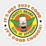 Krusty Seal Decal - Cool Stickers