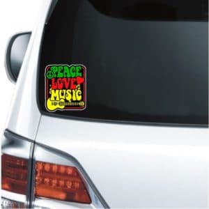 cool stickers - Peace love Music decal