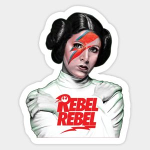 cool stickers - Princess Leia Rebel Decal