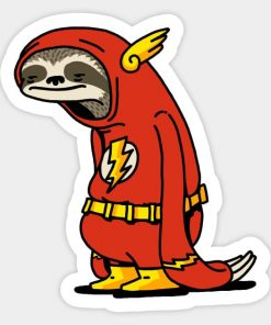 cool stickers - Sloth Flash Funny Decal