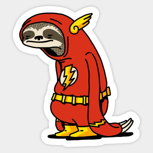 47abcc6944f1 Sloth Flash Funny Decal Laptop Decals Stickers