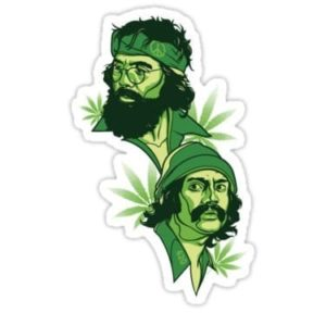 cool stickers - cheech and chong decal