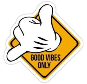 cool stickers - good vibes hang loose decal