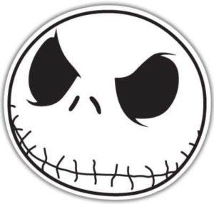 cool stickers - jack skellington head decal