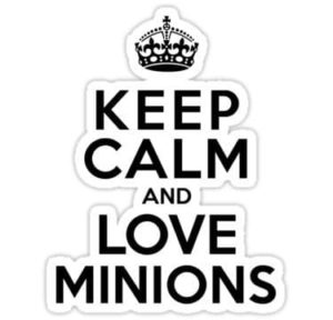 cool stickers - keep calm and love minions decal