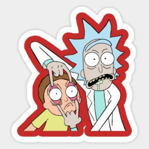 cool stickers - rick and morty open your eyes decal