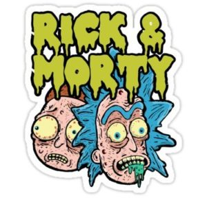 cool stickers - rick and morty zombie decal