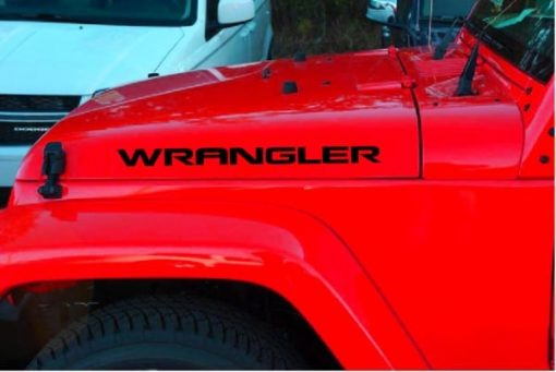 eep Decals - Jeep Wrangler Hood set of 2 New Style Stickers