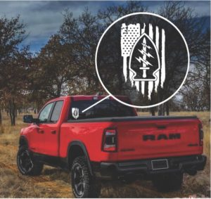 Army Rangers Special Forces Weathered Flag Decal Sticker