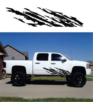 Chevy Truck Decal Sticker for Mud splash Rocker Panel Set of 2
