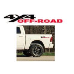 Dodge Ram 4x4 Offroad Decal Sticker set 3 color