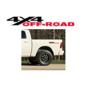Dodge Ram 4x4 Offroad Decal Sticker set 3 color