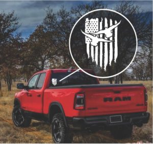 Duck Hunter Weathered Flag Decal Sicker