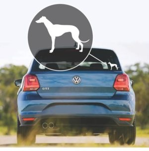 Greyhound Silhouette - Dog Stickers