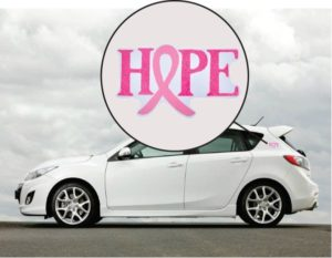 Hope Breast Cancer Awareness Car Magnet