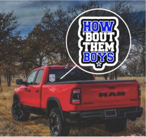 How about them Boys Dallas Truck Window Decal Sticker