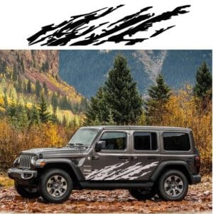 Jeep Wrangler Body Side Panel Decal Sticker