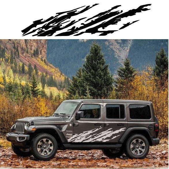 Jeep Wrangler Body Side Panel Decal Sticker
