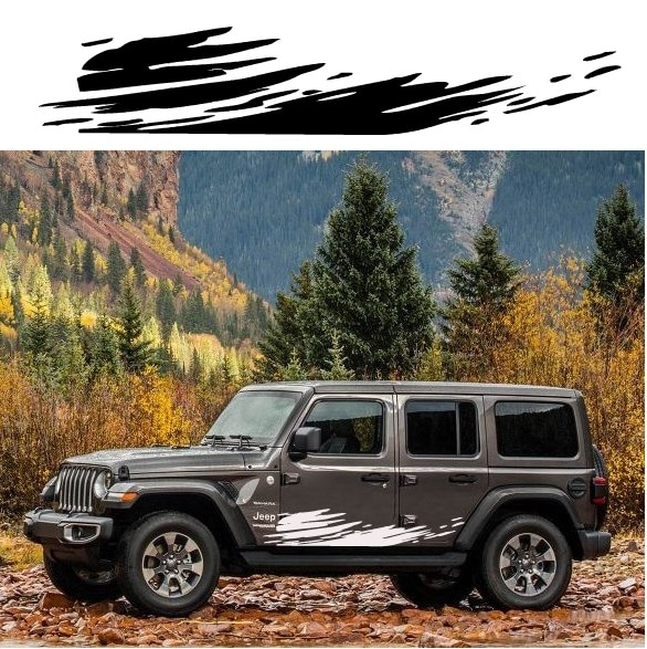 Jeep Wrangler Decal Body Side Graphic Sticker A2