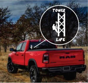 Tower Life Window Decal Sticker