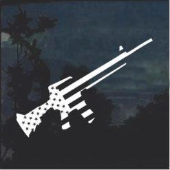 2nd Amendment Rifle AR 15 American Flag Decal Sticker