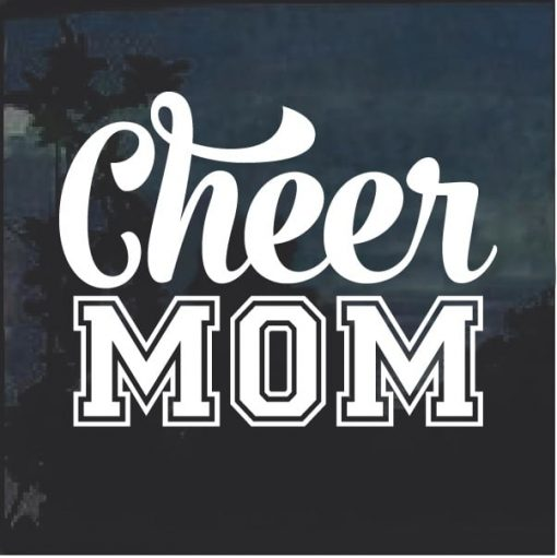 Cheer Mom Varsity Letters Decal Sticker