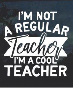 Cool Teacher Window Decal Sticker