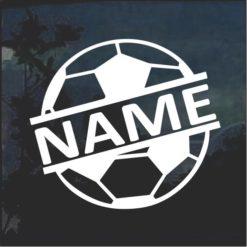 Custom Soccer Ball Name Window Decal Sticker a2
