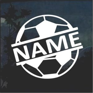 Custom Soccer Ball Name Window Decal Sticker a2