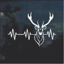 Deer Heartbeat Buck Hunting Window Decal Sticker