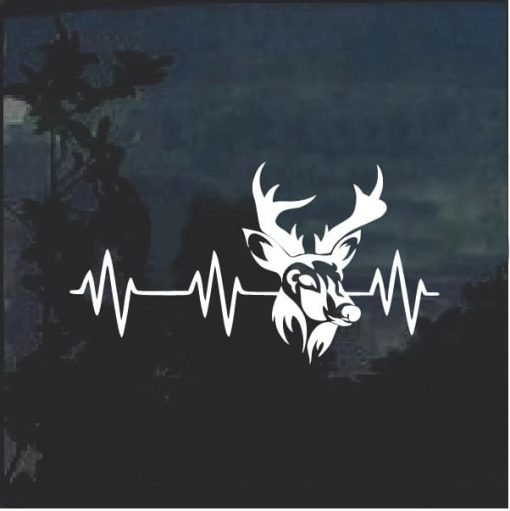 Deer Heartbeat Love Hunting Decal Sticker