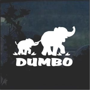 Dumbo Elephant with Mom Window Decal Sticker