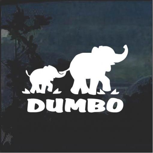 Dumbo Elephant with Mom Window Decal Sticker