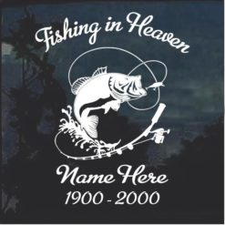 Fishing in Heaven In Loving Memory Decal Sticker