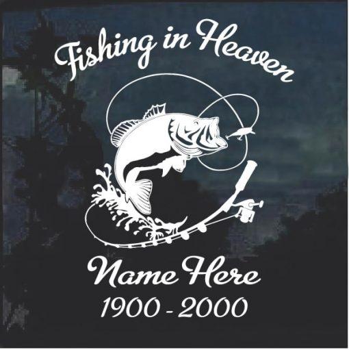 Fishing in Heaven In Loving Memory Decal Sticker