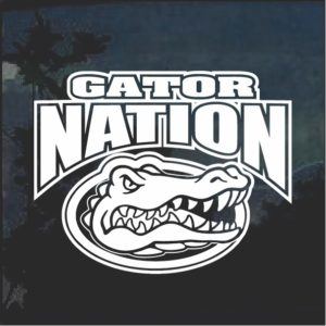 Florida Gators Gator Nation Window Decal Sticker